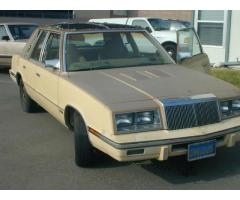 1985 Chrysler LeBaron Turbo Sedan Low Mileage Running Project.