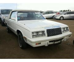 1982 Chrysler LeBaron Convertible-TO BE CRUSHED