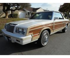 1984 Chrysler LeBaron Mark Cross Town and Country Woody Convertible