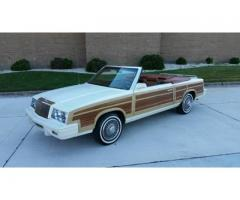 1983 Chrysler LeBaron Town and Country Woody Convertible