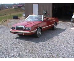 1982 CHRYSLER LEBARON CONVERTIBLE Project