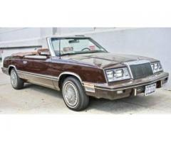 1983 Chrysler LeBaron Mark Cross Convertible